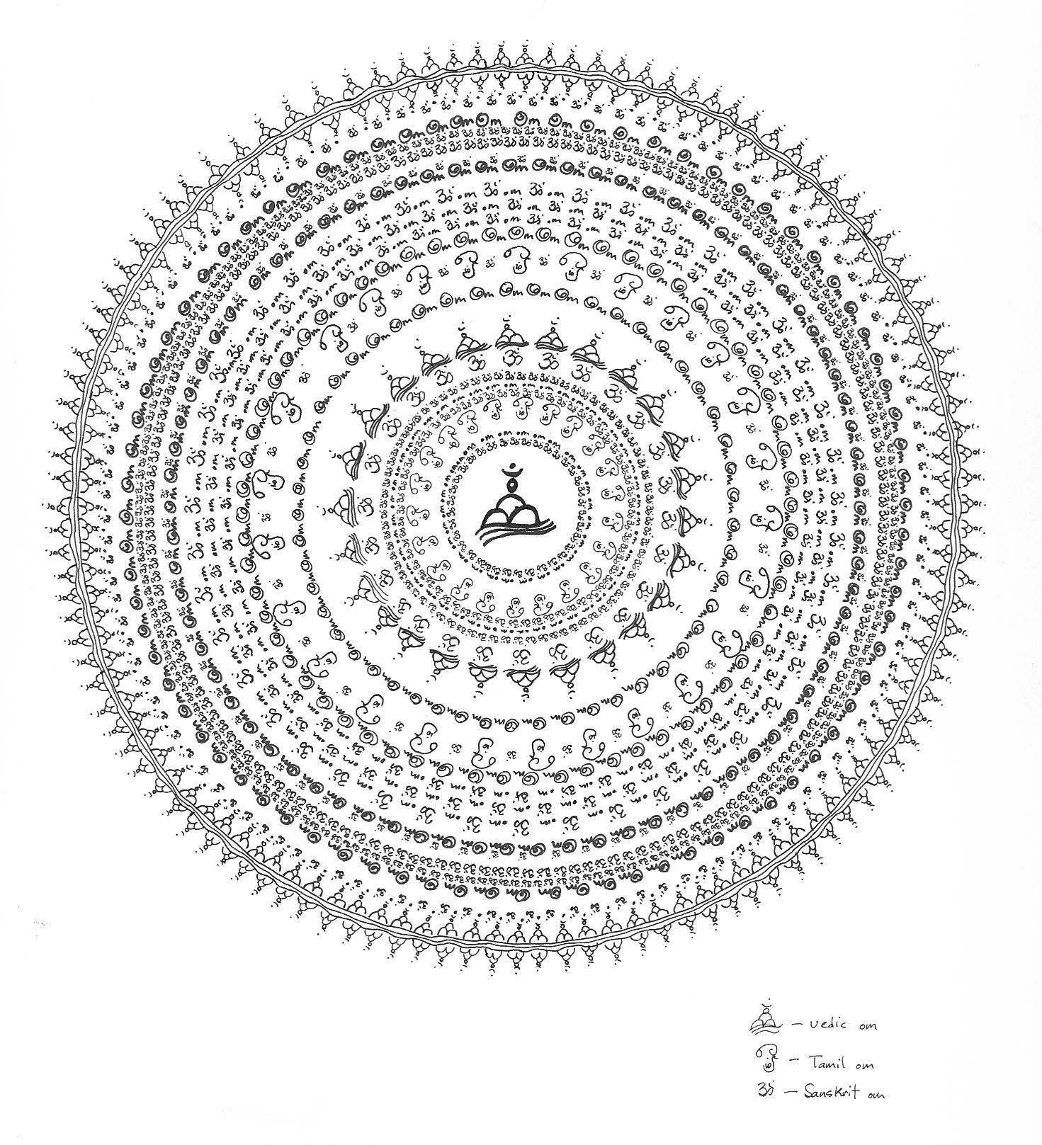 om mandala coloring pages bing images healing mandala