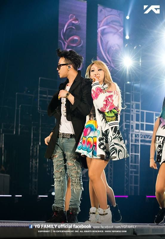 GD + CL @ YG Family 'Power' Tour in Osaka, Japan! 140413