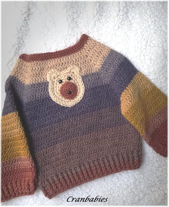 58186158c Handmade Crocheted.Adorable Toddler Baby Pullover sweater.Cute ...