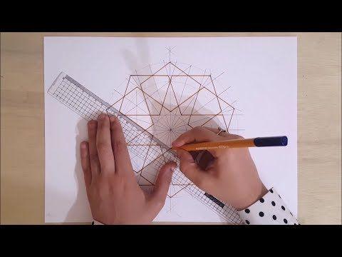How To Draw An Islamic Geometric Pattern 7 زخارف اسلامية هندسية Youtube Geometric Drawing Geometric Drawings