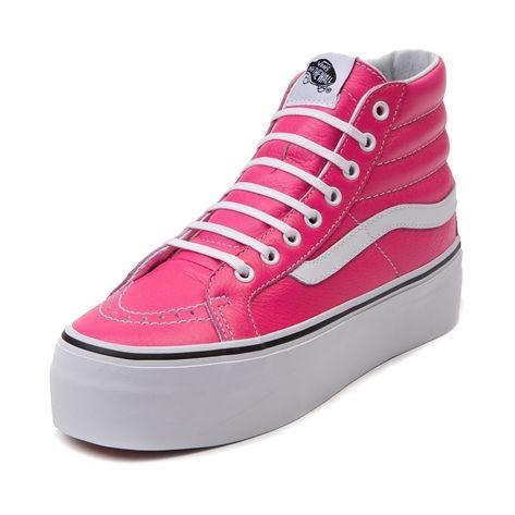 065413e8ea Shop for Vans Sk8 Hi Platform Shoe in Neon Pink Leather at Journeys Shoes.  Shop