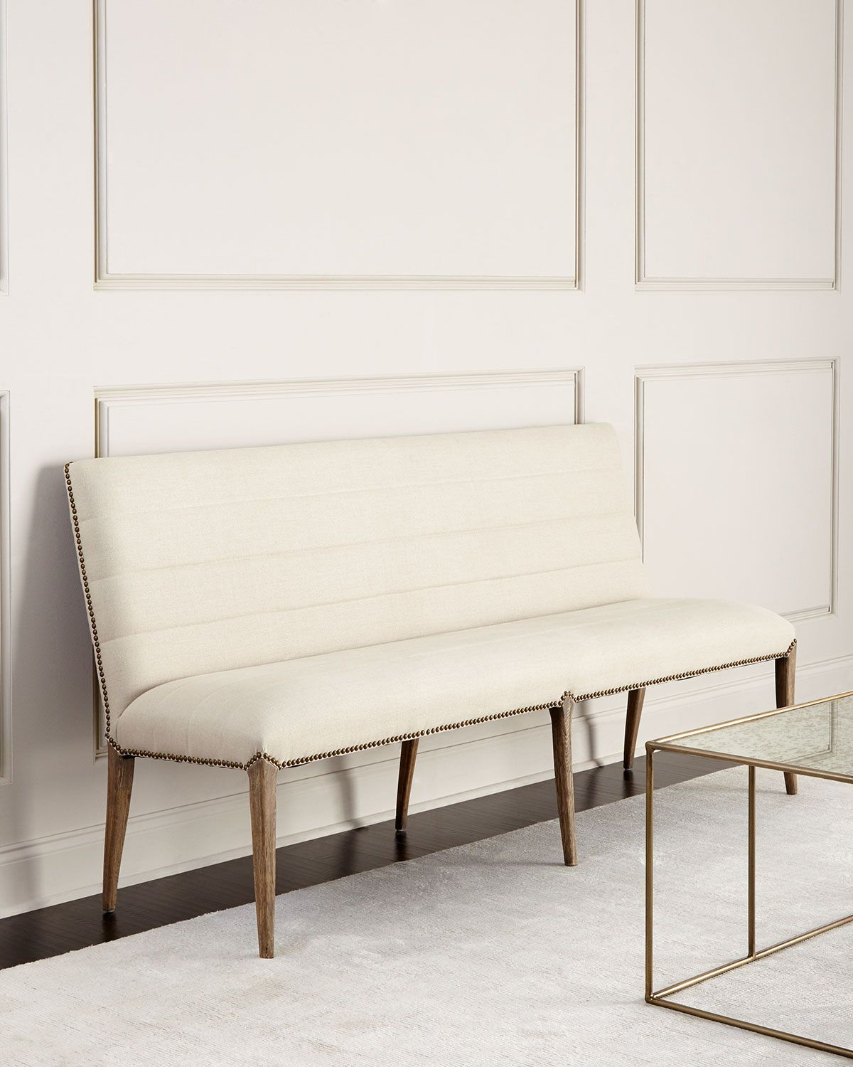 Newman Linen Banquette | Tiny dining rooms, Dining room ...