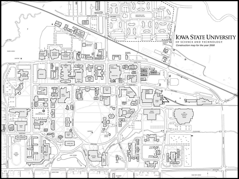 campus map iowa state Iowa State University Isu Campus Map 1999 Y2kconst Jpg 1440 1079 Campus Map Iowa State University Iowa State campus map iowa state