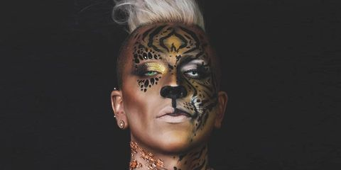this tiger makeup look is actually perfect for halloween