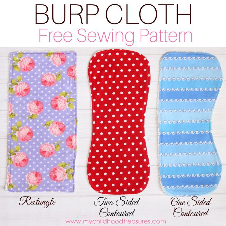 Contour Flannel Burp Coth  and matching Bib Gift Set