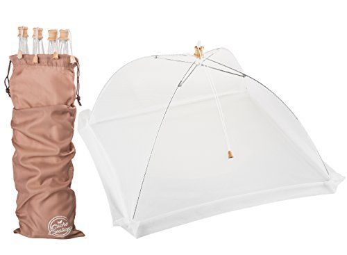 Amazon.com | Food Cover Tent with Wooden Accents (4 Pack) | Fine Mesh Screen …