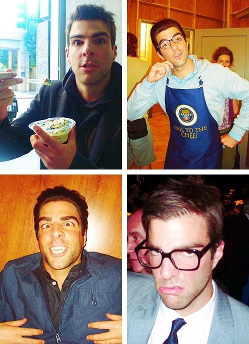 Zachary Quinto. This man is amazing. Amazingly attractive in whatever face he wears.