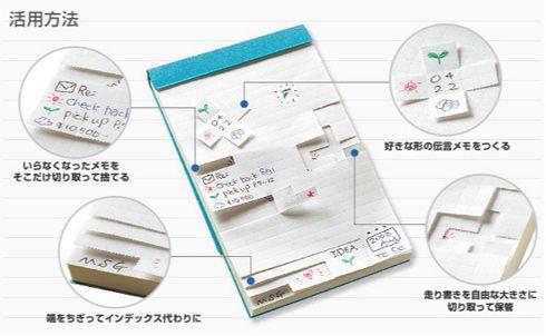 好きな形にちぎるメモ コクヨ チビット Pen And Paper Graph Paper Memo