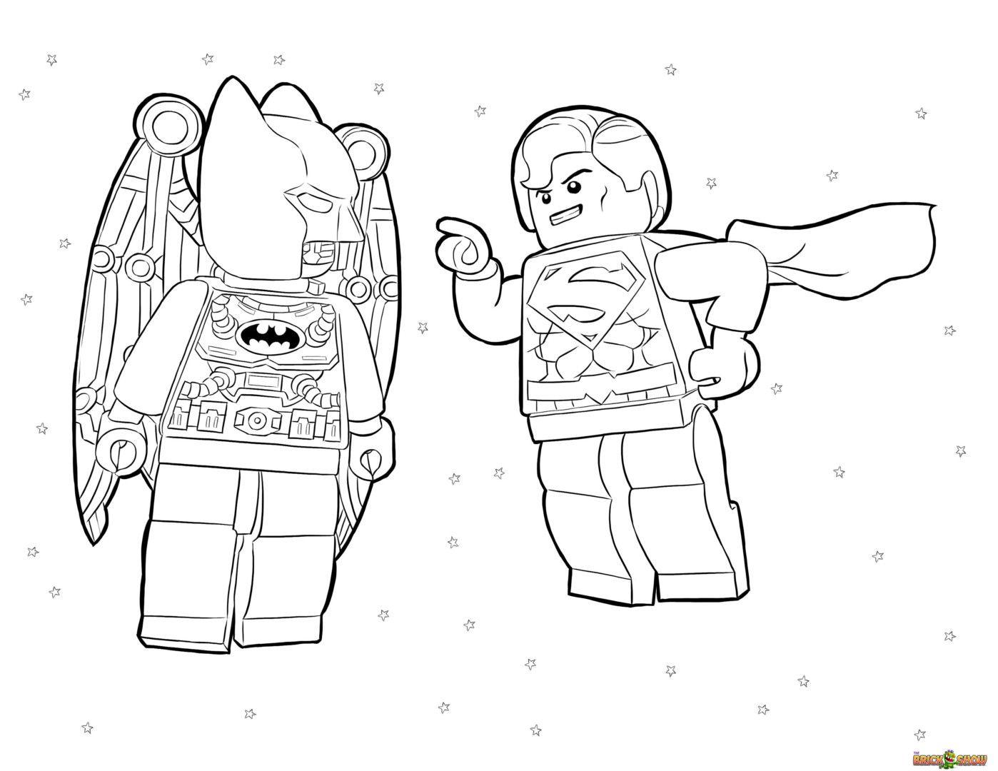 Lego Marvel Superheroes Batman And Superman Coloring Page