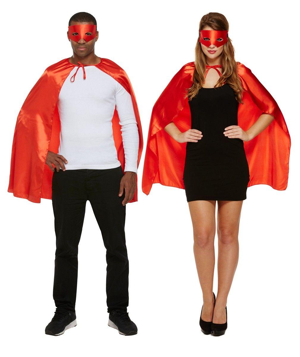 Adult Superhero Cape & Mask Set - Red | TFPFancy Dress | Pinterest ...