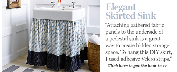 skirted pedestal sink