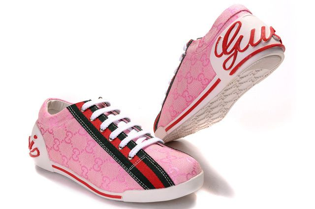 3720ec58 Pink-Gucci-Womens-Low-Sneakers | Sneakers in 2019 | Cheap sneakers ...