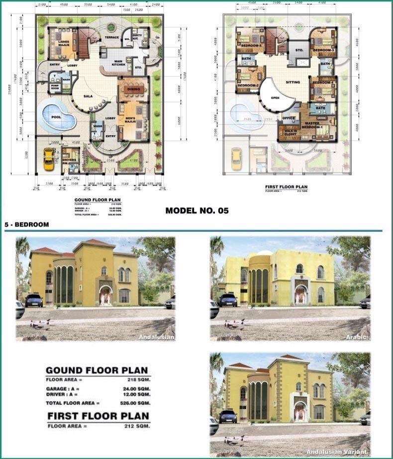 saudi aramco villa plans 5 - architecture