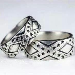 Rebel flag wedding rings