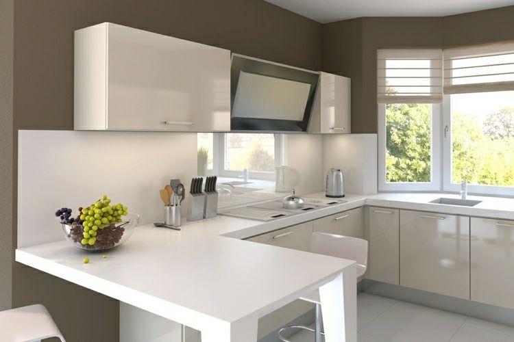 Cocinas Pequenas Con Muebles Blancos.Decoracion De Cocinas Pequenas 53 Ideas Interesantes