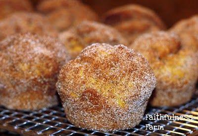 Pumpkin doughnut muffin