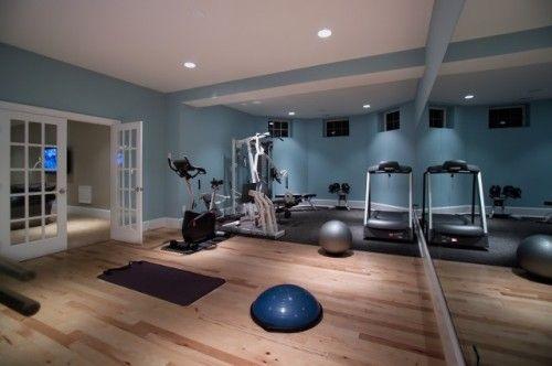 Home Basement Gymnasium And Dance Studio Modern Home Gym Gym
