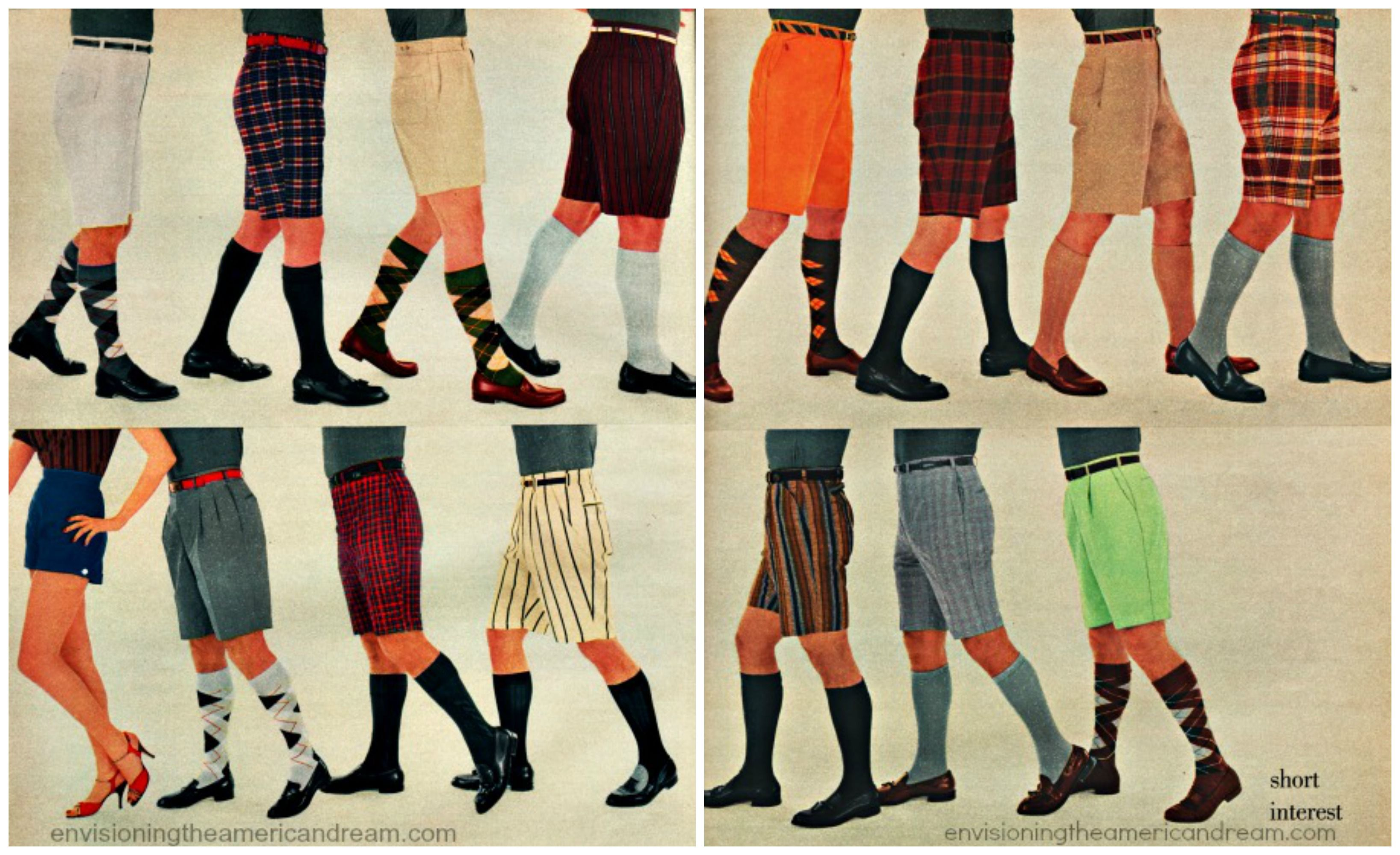 Vintage mens Bermuda shorts 1956 Mens spring fashion
