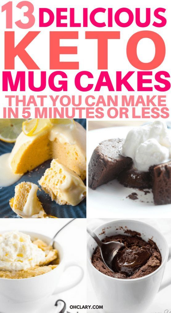 13 Keto Mug Cake Recipes That You Can Make In 5 Minutes Or Less #mugcake