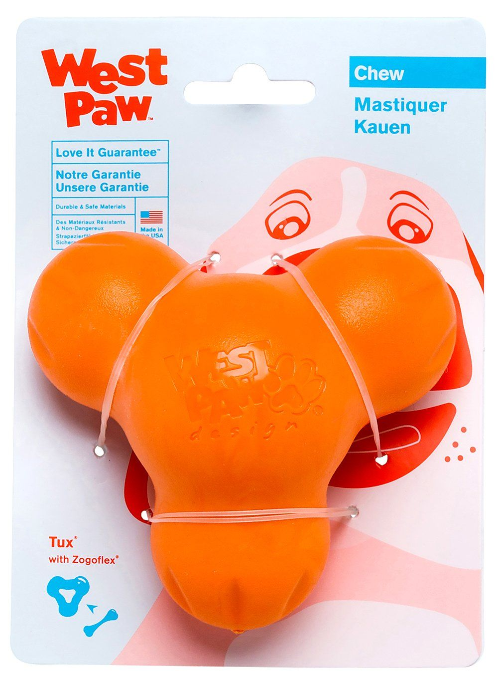 West Paw Zogoflex Tux Interactive Treat Dispensing Dog Chew Toy