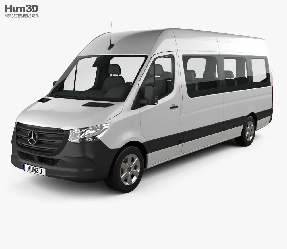 3d Model Of Mercedes Benz Sprinter Passenger Van L3h2 2019 Benz Sprinter Sprinter Passenger Van Mercedes Benz