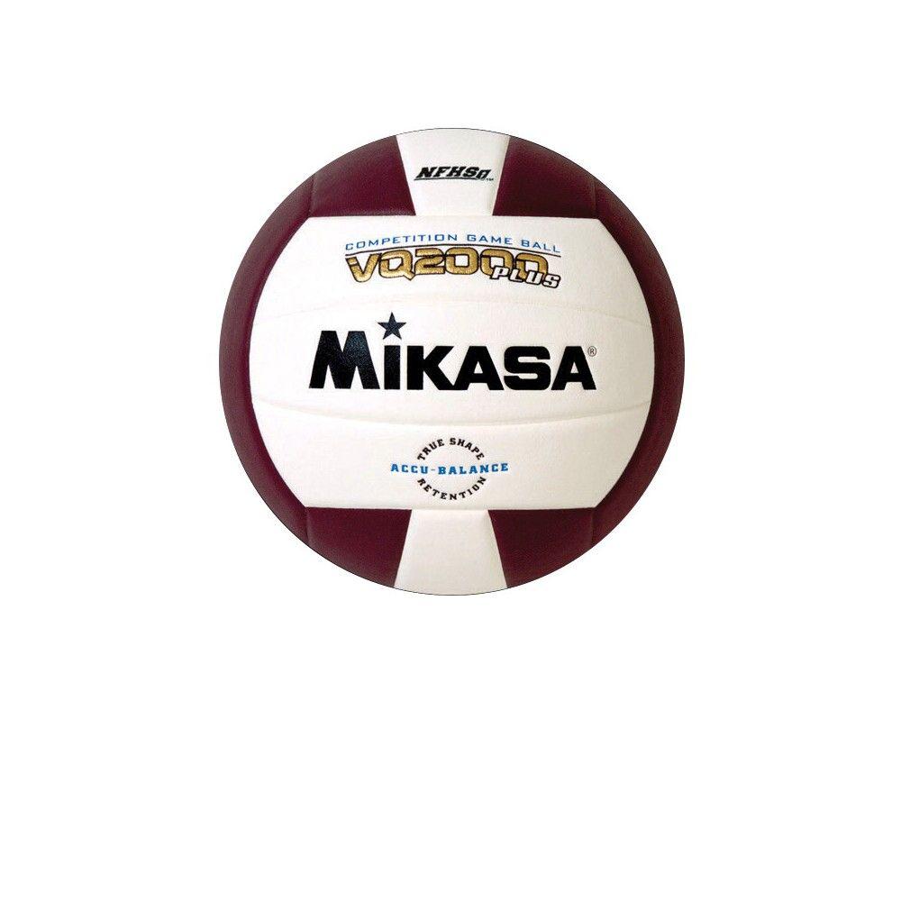 Mikasa Vq 2000 Nfhs Volleyball Maroon White Mikasa Volleyball Balance Ball