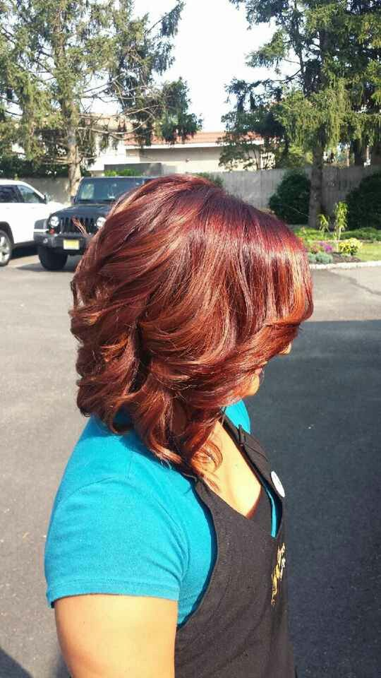 Base 6r Highlights On Ends 7 Bc Shades Eq Redken My Work