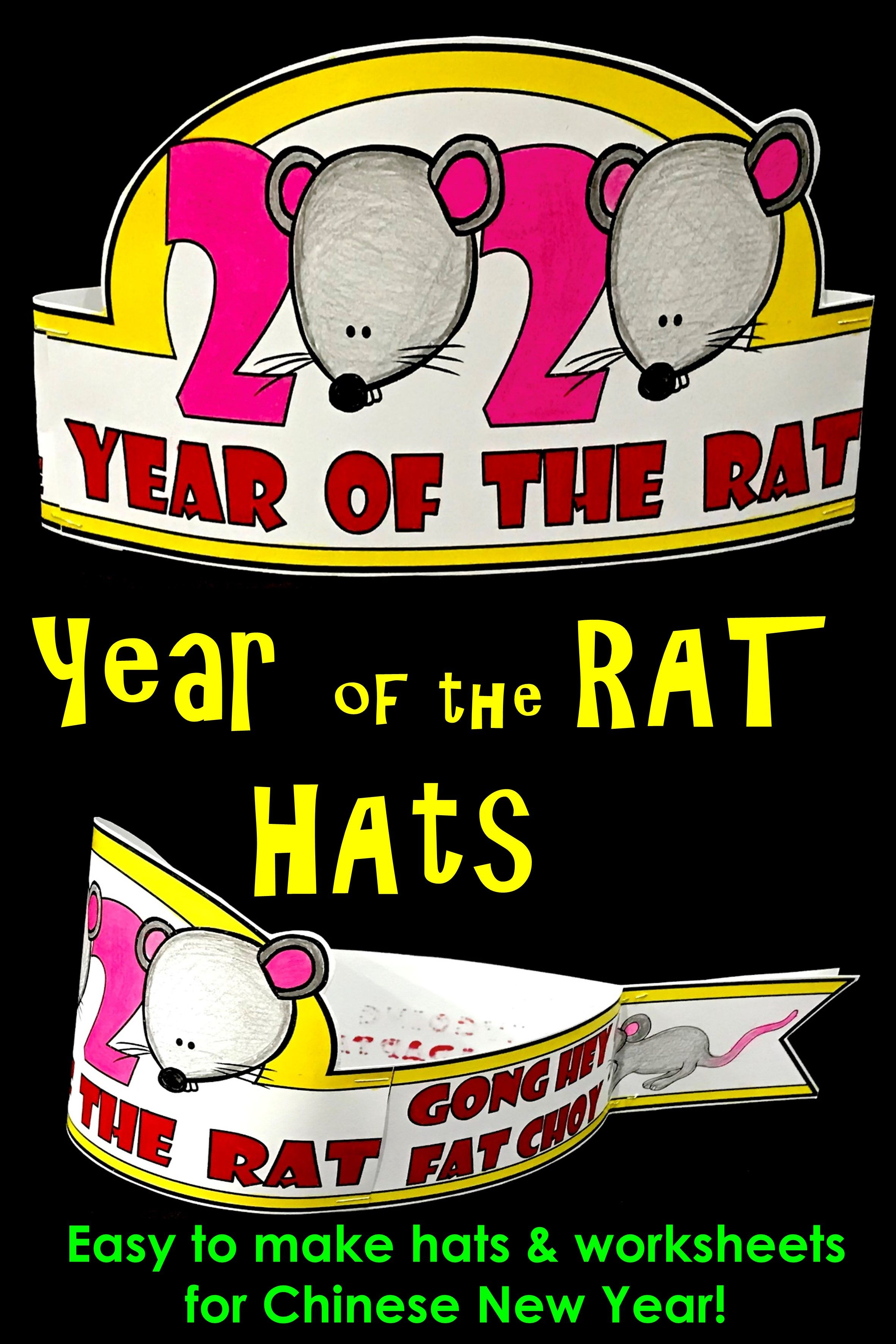 Chinese New Year Hats Year Of The Rat Hat In