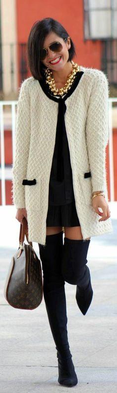 Black+White+Cute Bag
