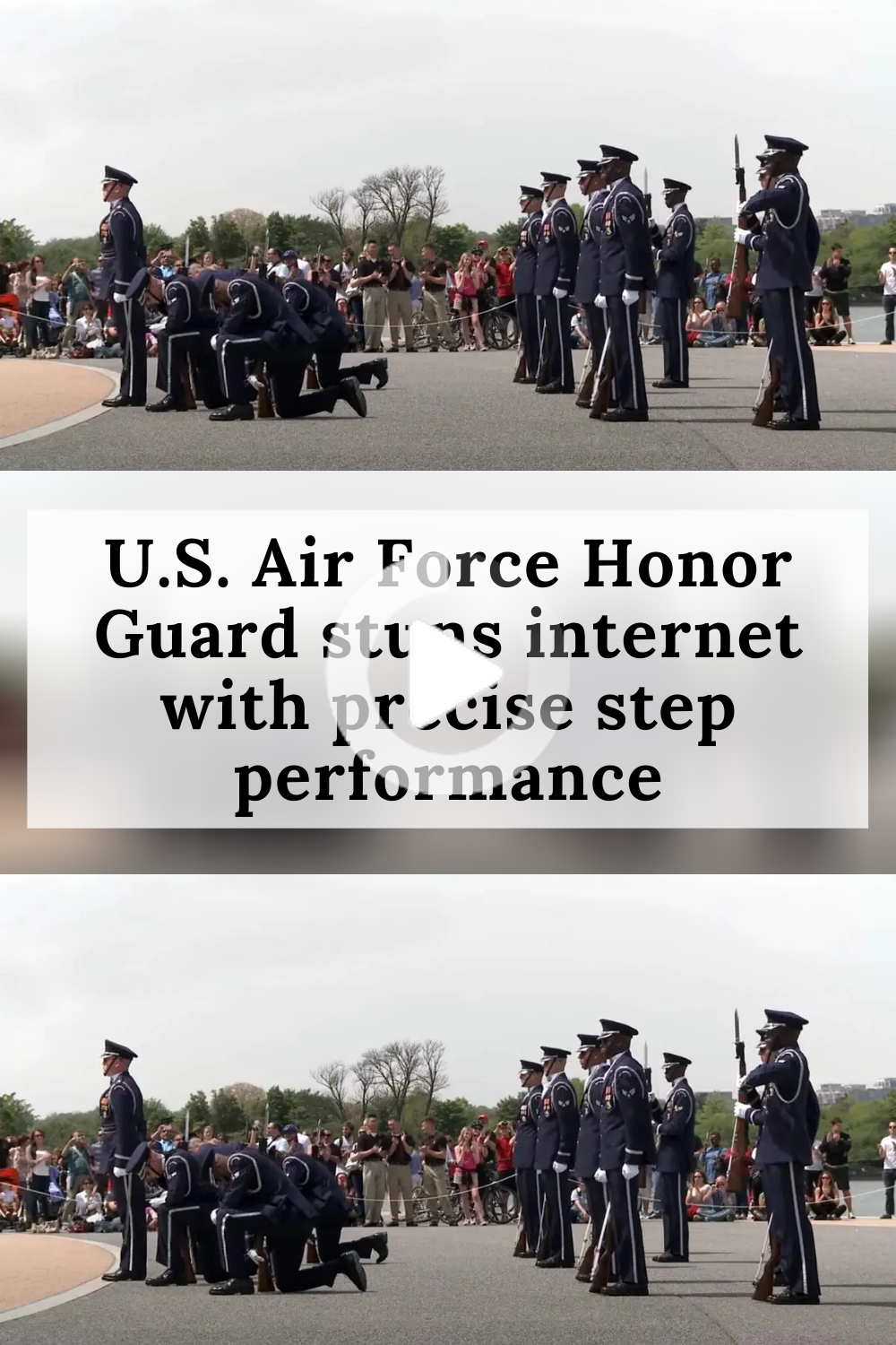 U S Air Force Honor Guard Stuns Internet With Precise Step Performance In 2020 Honor Guard Air Force Performance