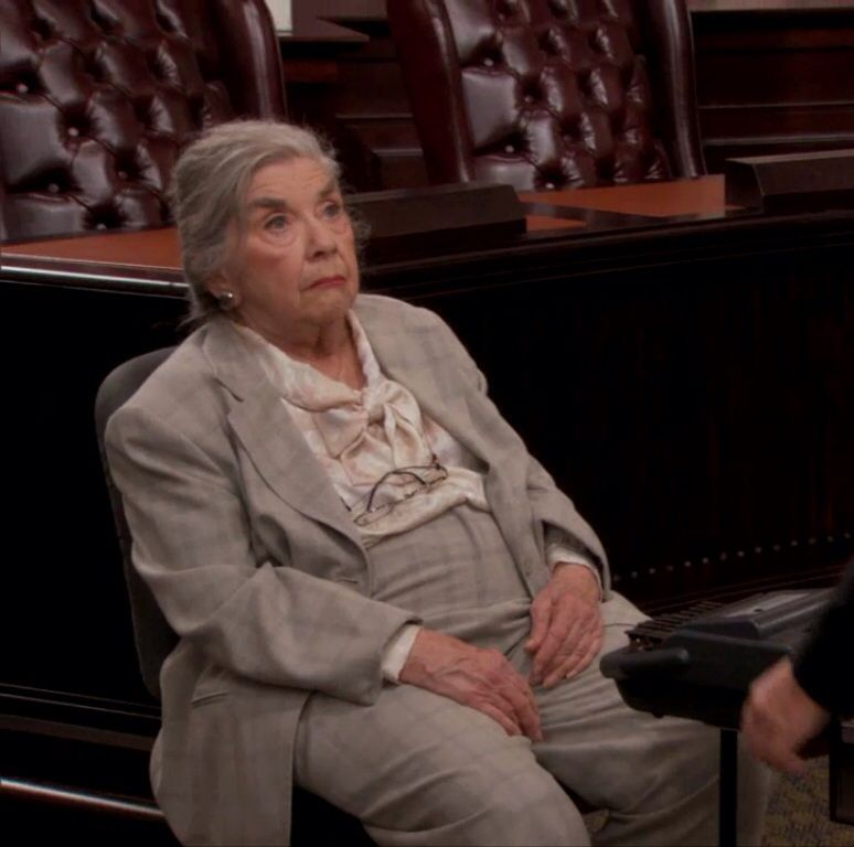 """Ethel Beavers, the court reporter from TV show Parks and Recreation. She is my career goal. Cranky and """"Really good at dating."""""""