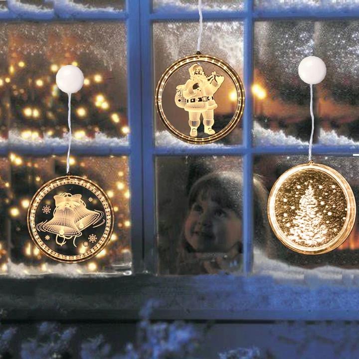 Witraz Led Lampki Swiateczne 3d Ozdoba Na Okno 9754073675 Allegro Pl Hanging Christmas Lights Led Night Light Fairy Lights