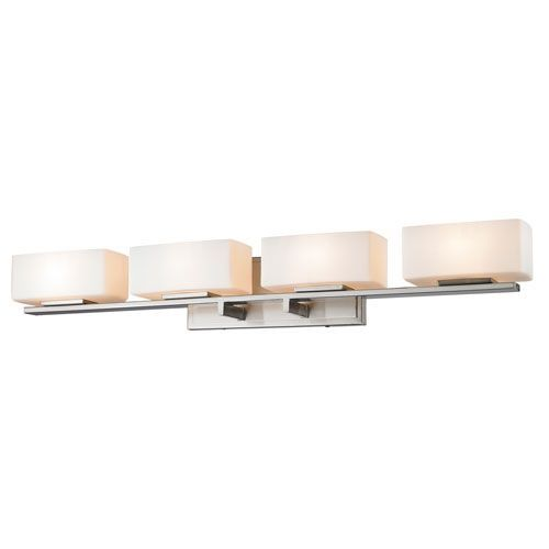 Z-Lite Kaleb Brushed Nickel Four-Light Vanity Fixture | Vanities ...