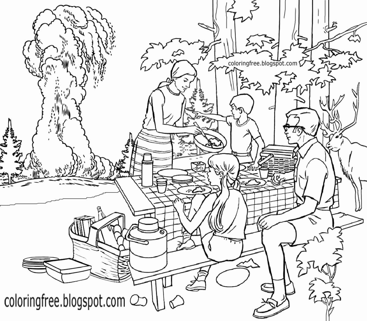 Coloring Pages Nature Scenes Best Of Colouring Pages Park Scene