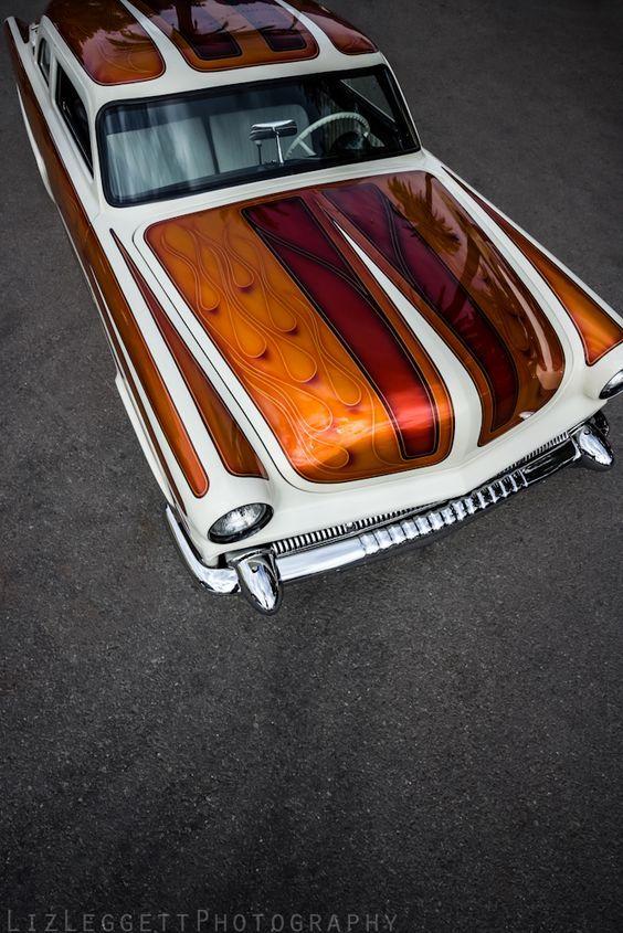 Car with an Elaborate Paint Scheme Custom cars paint