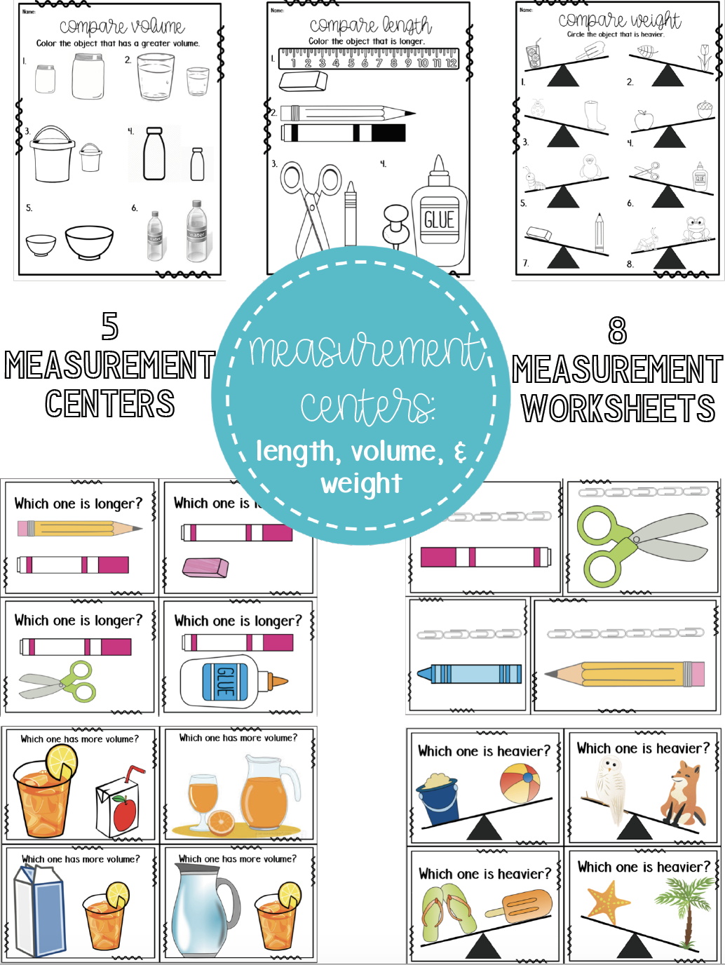 Measurement Centers Length Volume Weight