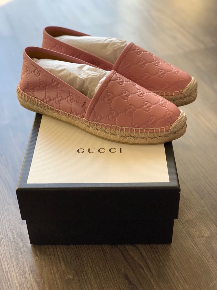 c8c08a6abdb Gucci Women s GG Leather espadrilles Pink Size EU 39  Fits US 8.5-9  fashion   clothing  shoes  accessories  womensshoes  flats (ebay link)