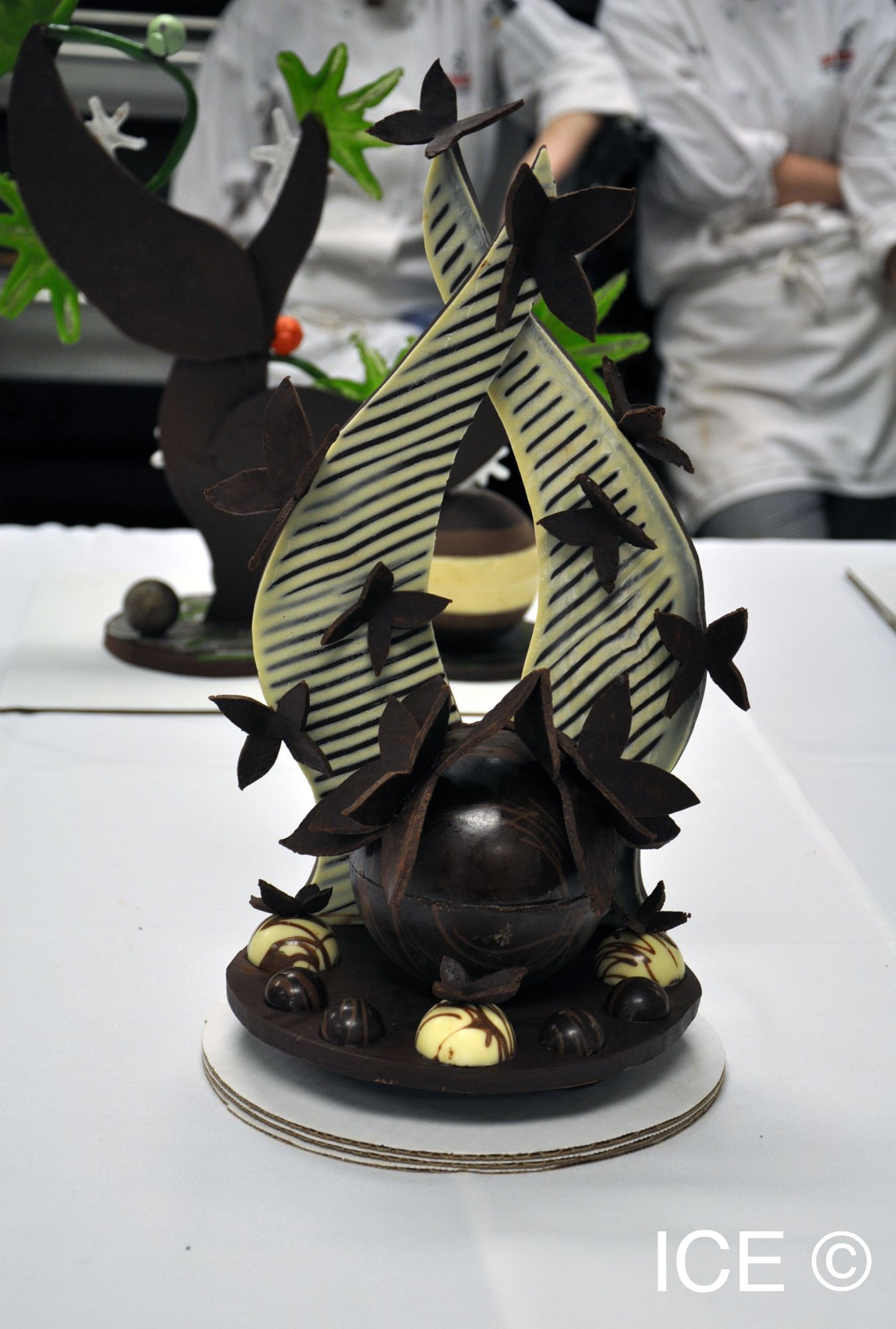 A chocolate showpiece made in an ICE Pastry & Baking Arts