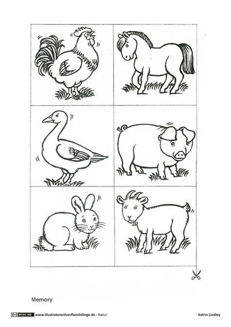 Download Als Pdf 2 Seiten Natur Bauernhof Tiere Memory Lindley Bauernhof Tiere Tiere Bauernhof