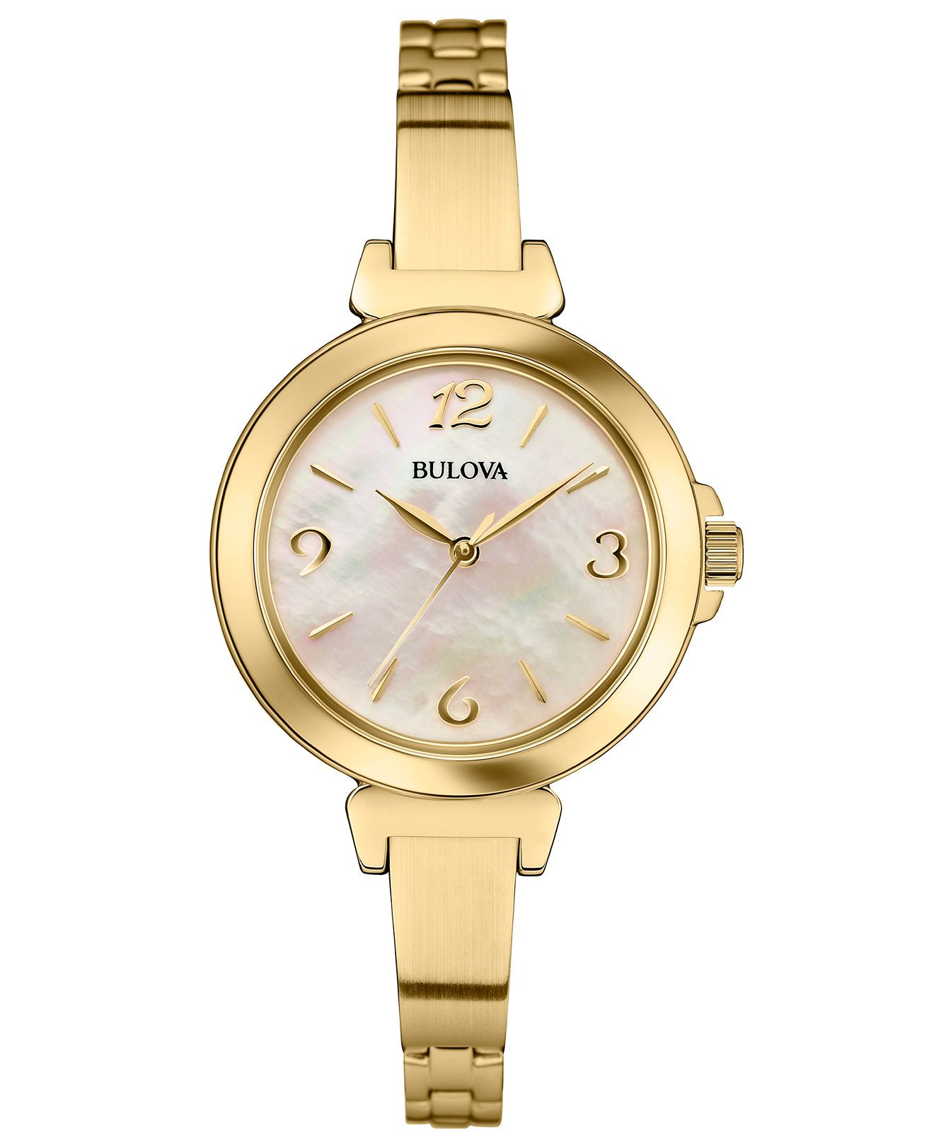Bulova Women s Gold-Tone Stainless Steel Bangle Bracelet Watch 30mm 97L136  - Women s Watches - Jewelry   Watches - Macy s 8b76e0ae26