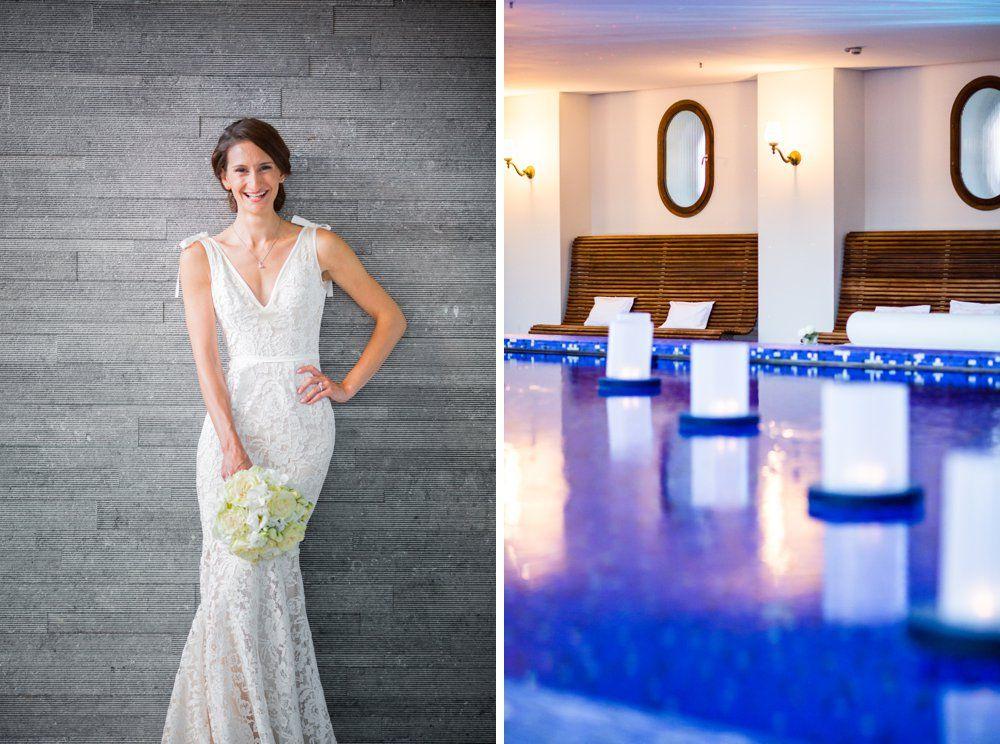 Bride at Bayerischer Hof München Spa & Pool bouquet: petra mueller blumen