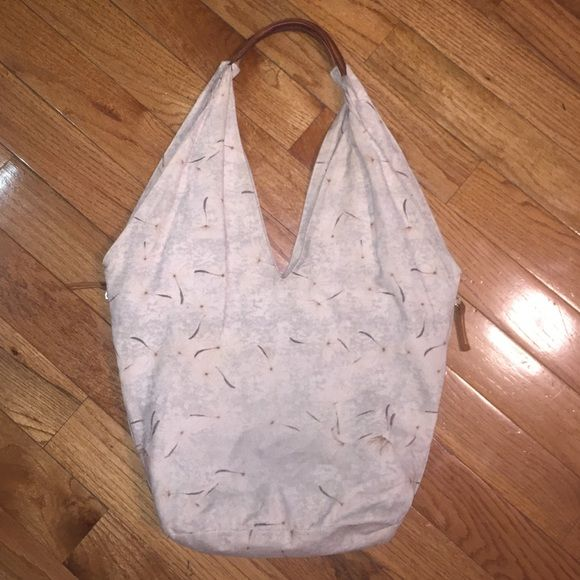 Collina Strada Hobo Bag Structured Bag Purse Large Amazing rare purse from Anthro, was exclusively available in Manhattan stores! Canvas and leather. Super clean, on of the hacked shows wear, very clean inside and out. Collina Strada Bags Shoulder Bags