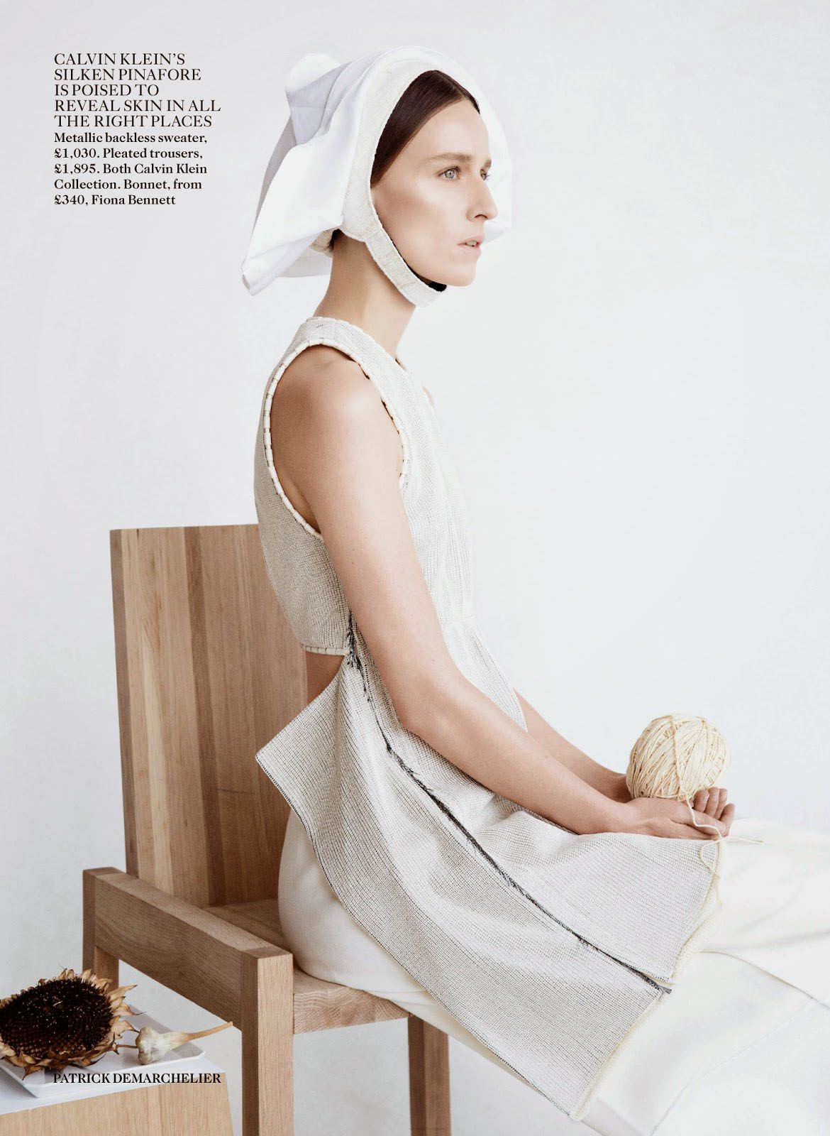 Clean Slate - Vogue UK Feb 2015 by Patrick Demarchelier - Calvin Klein