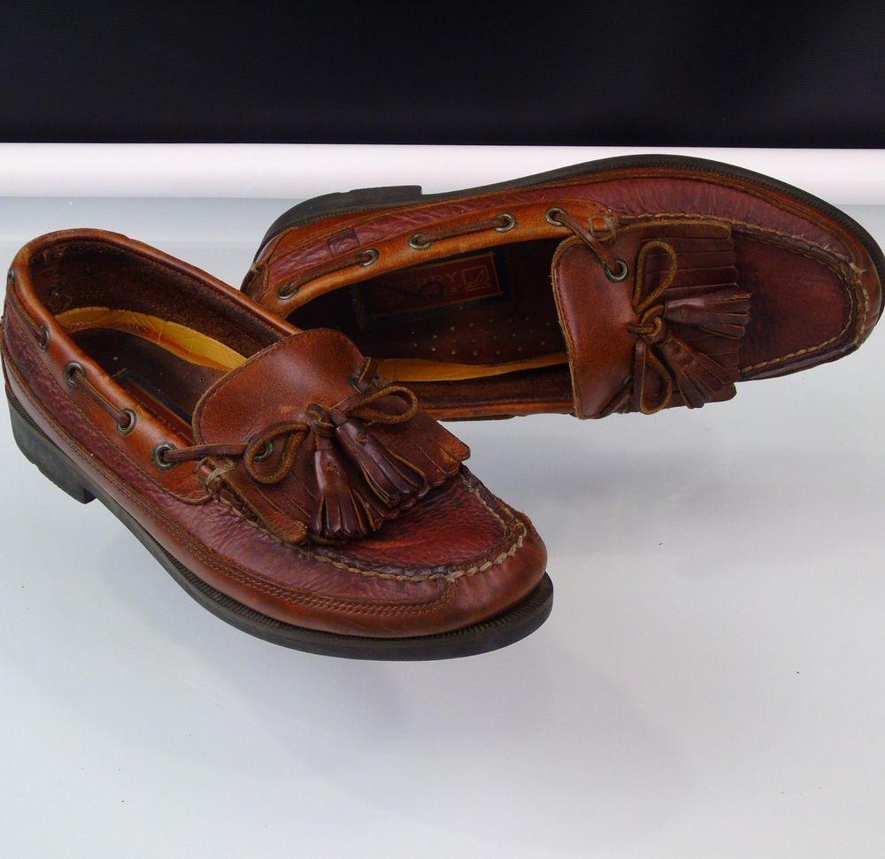 Boat Deck Kiltie Tassel Leather Loafers