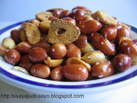 how to fry peanuts with garlic