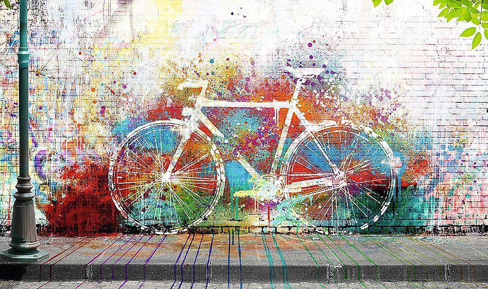 Home affaire, Deco Block »Wo ist das Fahrrad?«, 118/70 cm | Wand