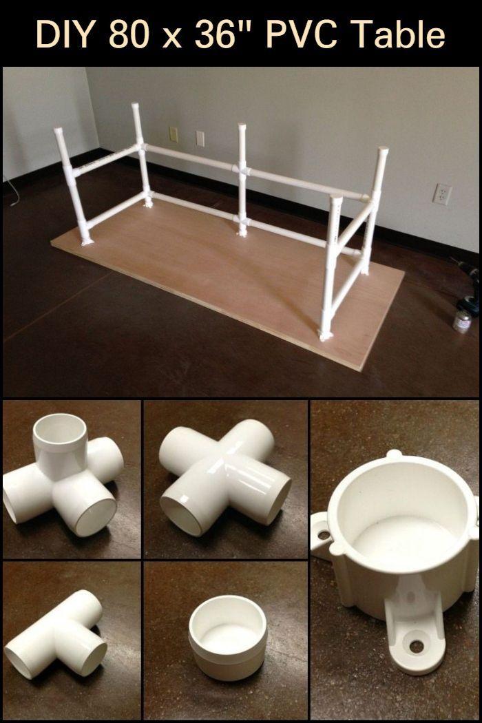 Photo of DIY 80 x 36″ PVC Table
