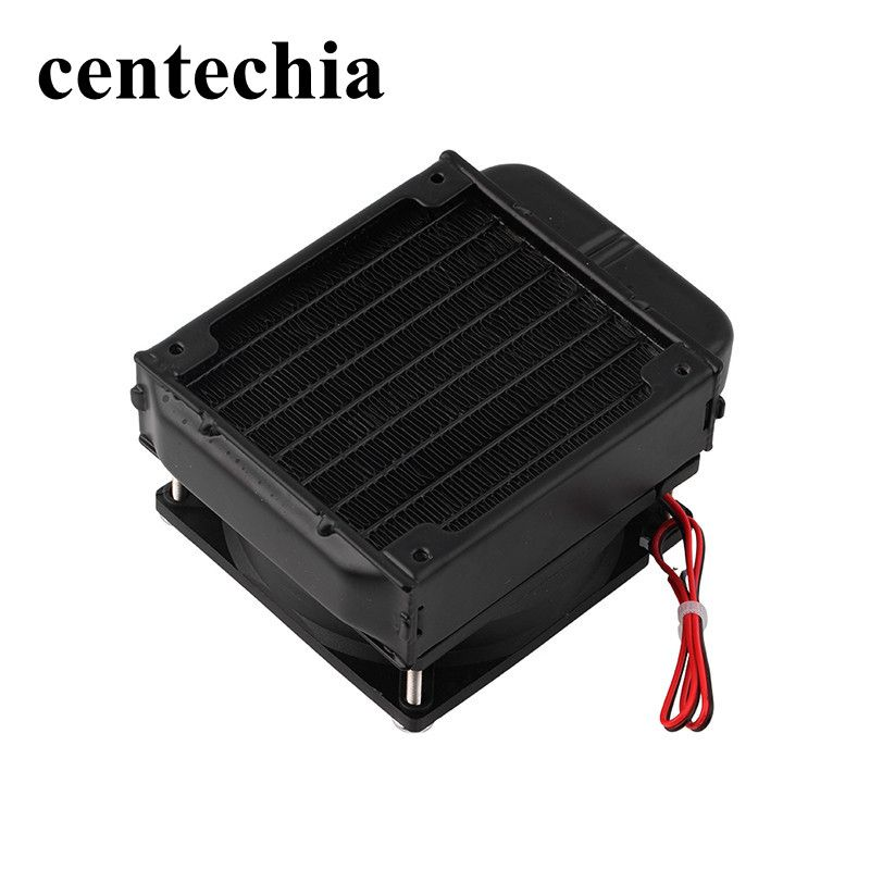 Centechia New Aluminum Water Cooling 80mm Radiator Cooler With Fan