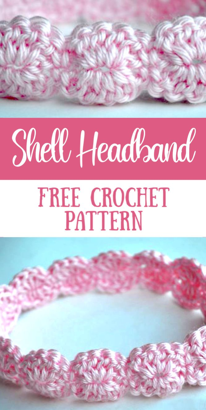 Crochet Shell Headband - Free Crochet Pattern – My Merry Messy Life