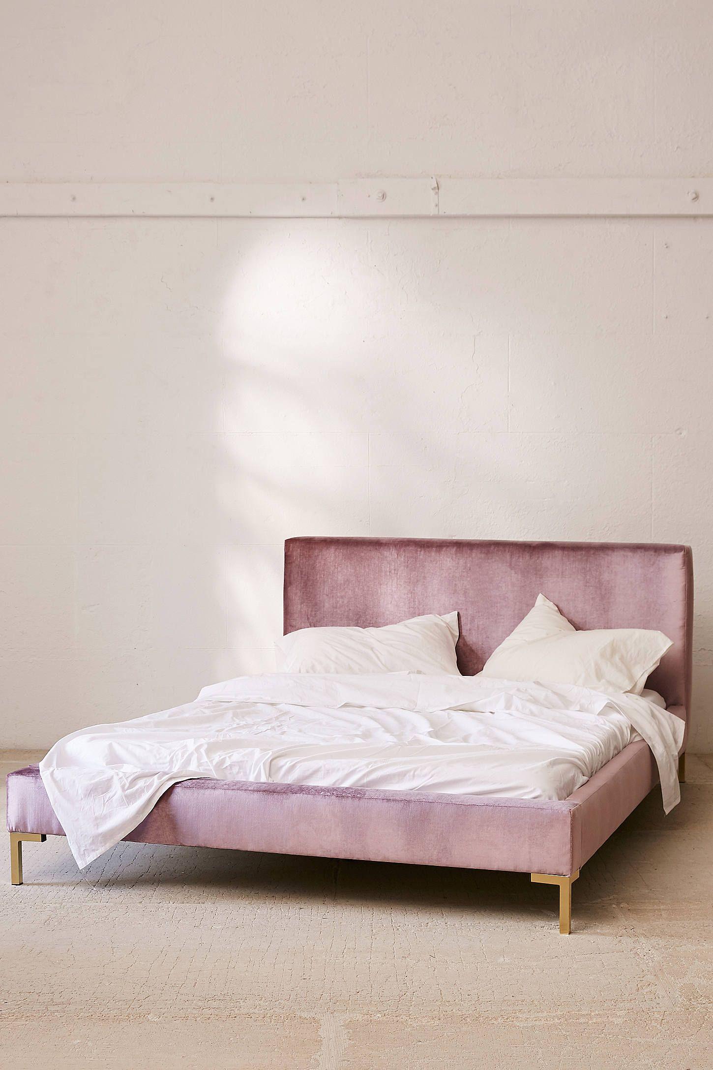 Rosalie Velvet Platform Bed Home decor bedroom, Bed